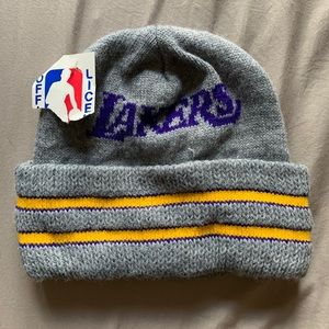 Brand New with Tags Lakers beanie -Vintage